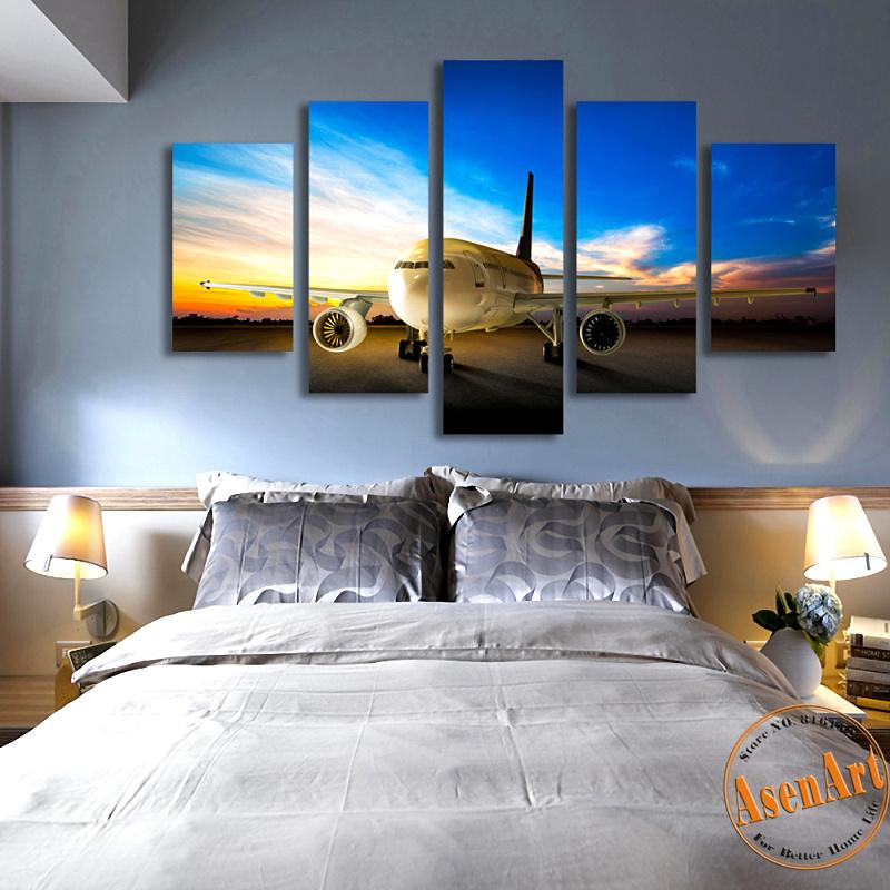 online get cheap wall art airplane aliexpress com