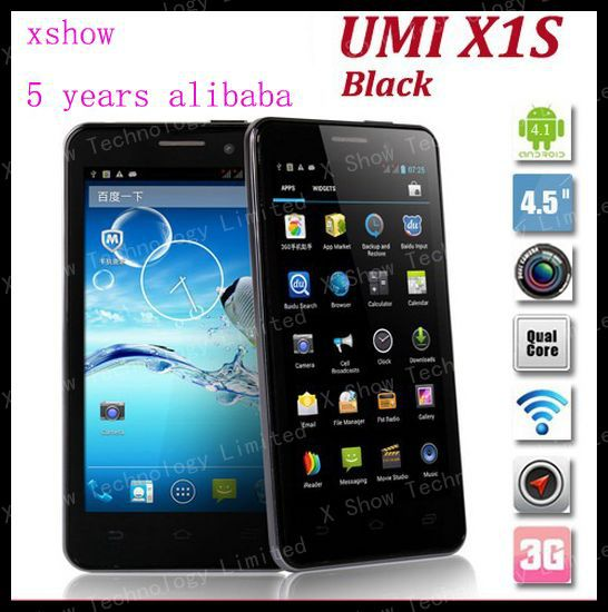 discount shipping UMI x1s android phone MTK6589 1.2Ghz Quad-Core 1.2Ghz Android 4.2 smartphone 4GB ROM + 1GB RAM Russia Hebrew(China (Mainland))