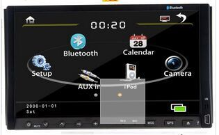 """Internet Camera+ 2 two Din 7""""inch Car DVD player GPS navigation map, audio Radio stereo,Bluetooth/TV,AUX,digital touch screen(China (Mainland))"""