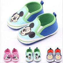 2015 New Fashion Cute Cartoon Mickey Minnie Newborn Baby First Walkers Infant Toddler Boys Girls Kids Soft Soled Anti-slip Shoes(China (Mainland))