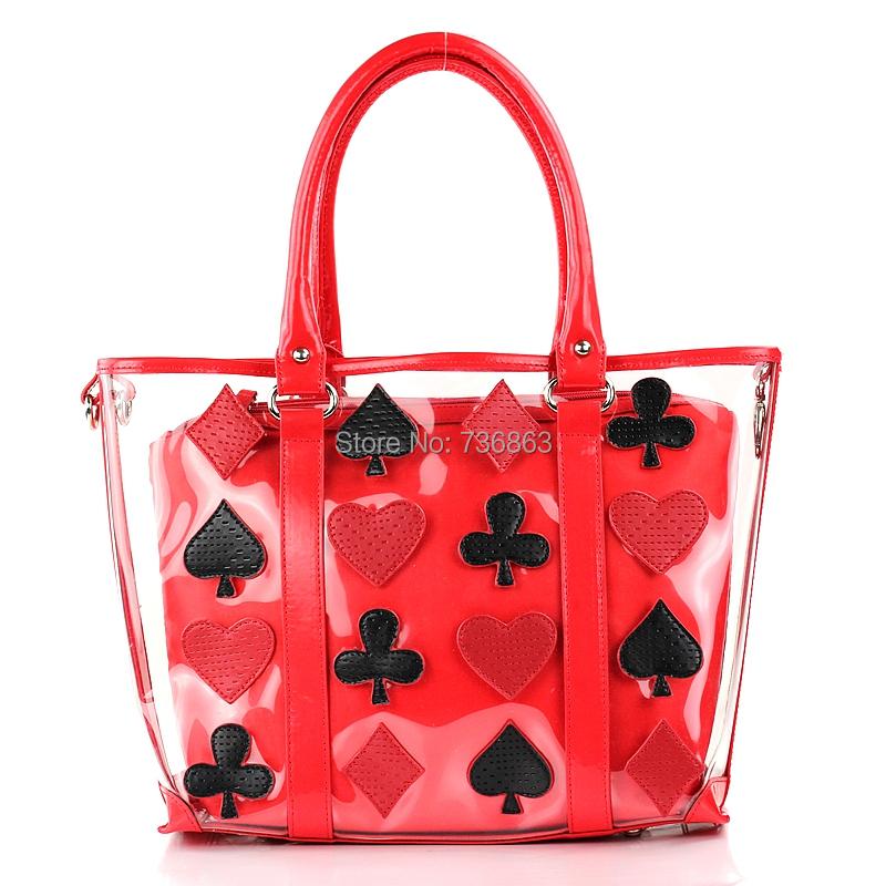 2015 Trend Transparent Crystal Bags Braccialini Style TottyBlu Handbag Light Plastic Jelly Poker One Should Women Messenger Bag()