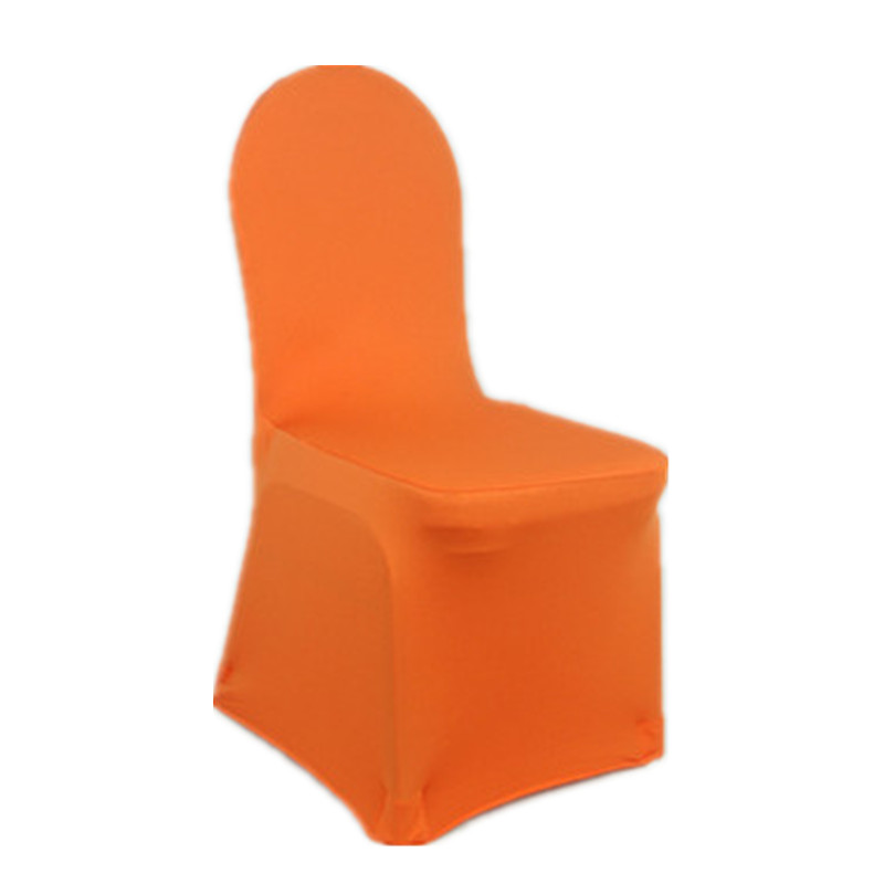 1 Pieces Universal Spandex Chair Covers China For Weddings Decoration Party Chair Covers Banquet Dining Chair Covers Orange V20(China (Mainland))