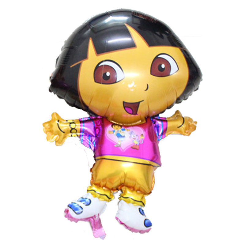 76x47cm lalaloopsy party dora toys happy birthday decoration inflatable toys ballons decorate birthday party dora balloon(China (Mainland))