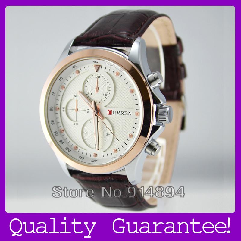 Leather strap watches brand men+watches men original brand waterproof casual watch+curren quartz men's watch Quality Guarantee(China (Mainland))
