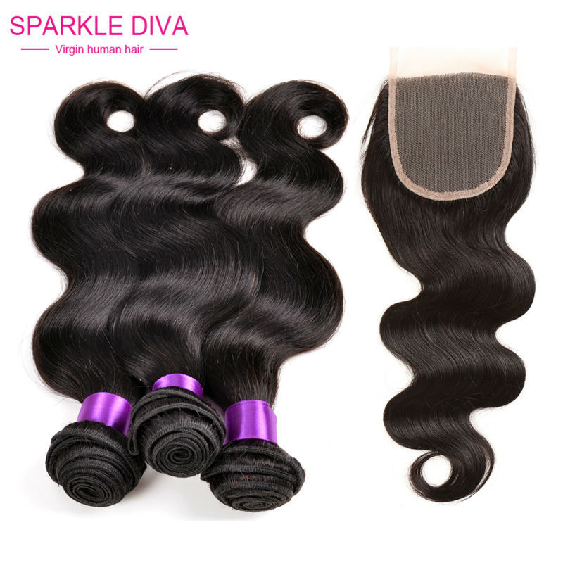 Гаджет  Ms lula Peruvian Virgin Hair Body Wave 3 bundles with TOP Lace Closure The Last of us Ideal Remy Hair Extensions FREE SHIPPING None Волосы и аксессуары