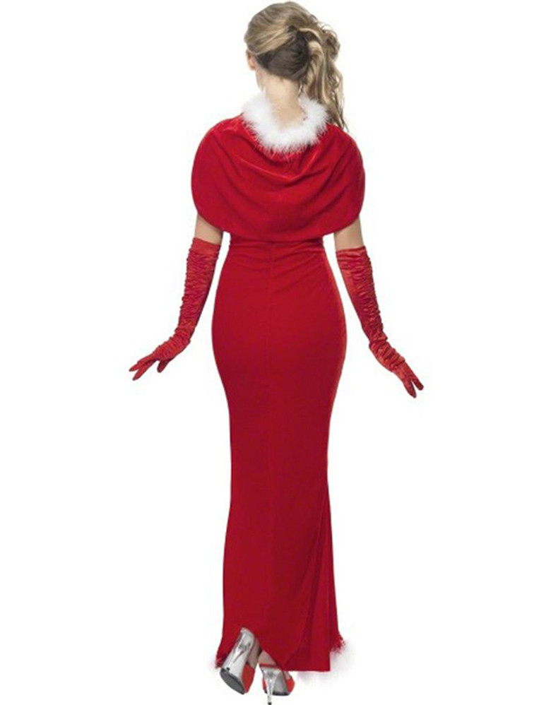 Aliexpress com buy women christmas long dress with wrap red elegant
