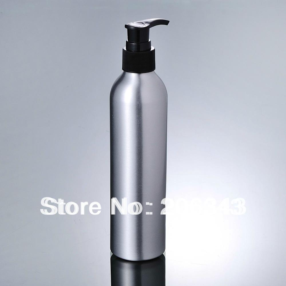 100pcs 120ml Aluminium bottle pump bottle with black press pump