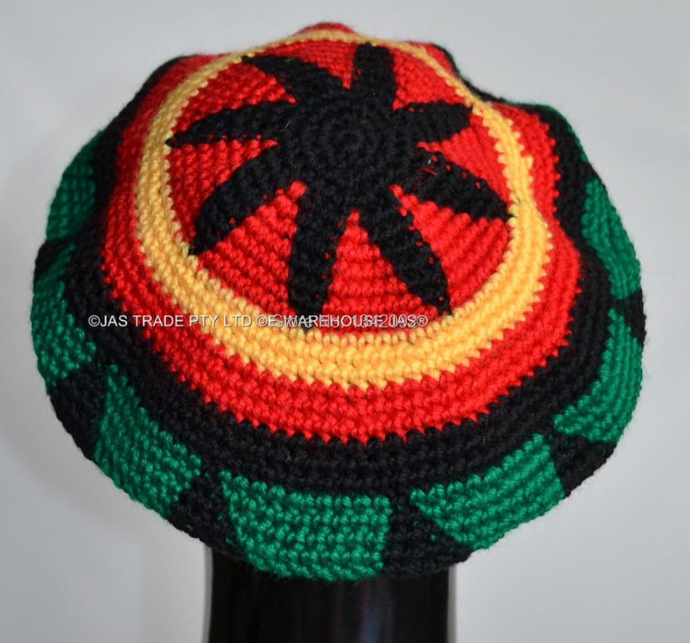 Fashion Punk Jamaica Reggae Knitted Hat Hip Hop Rasta Friendship Bob Marley S...