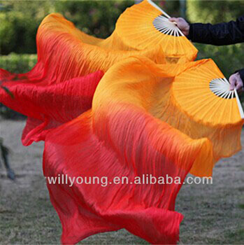 180*90cm size China real Silk Belly Dancing Fans Veils for Stage Performance or Dancing Show hot-selling(China (Mainland))