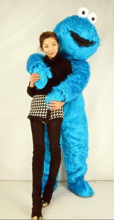Здесь можно купить  Sesame Street Blue Cookie Monster Mascot costume Fancy Dress Adult size Halloween free shipping    Одежда и аксессуары