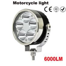 20PCS 50W Universal Motorcycle Scooter 5 LED Driving Fog Spot Light Headlight Lamp 6000LM(China (Mainland))