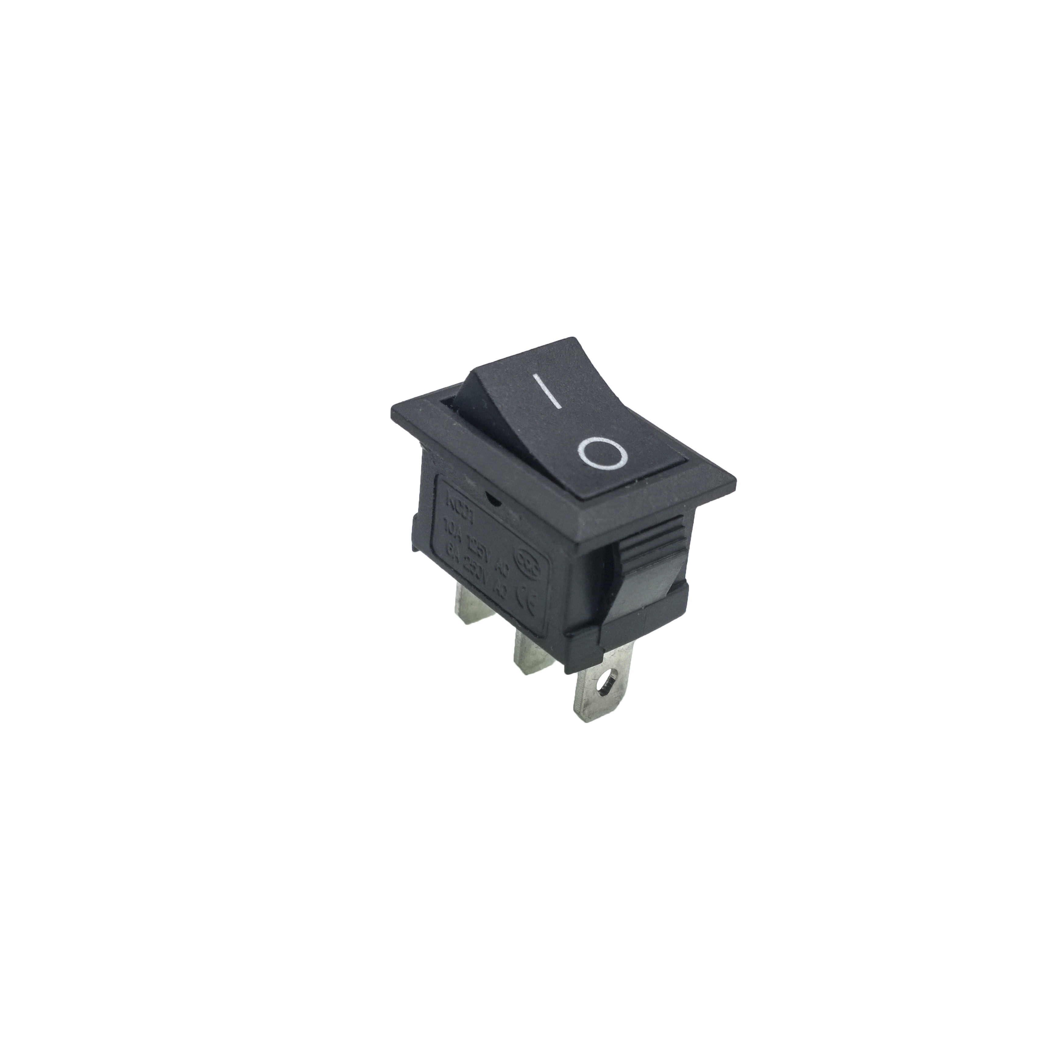 KCD1 (10pcs/lot 21*15mm SPST 3PIN switch on off Snap-in ON/OFF Position Snap Boat Rocker Switch 6A 250V High Quality Copper feet