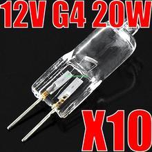 10 Pcs Halogen Light Bulb 20W 20 Watt 12V G4 Base JC Type EB3161(China (Mainland))