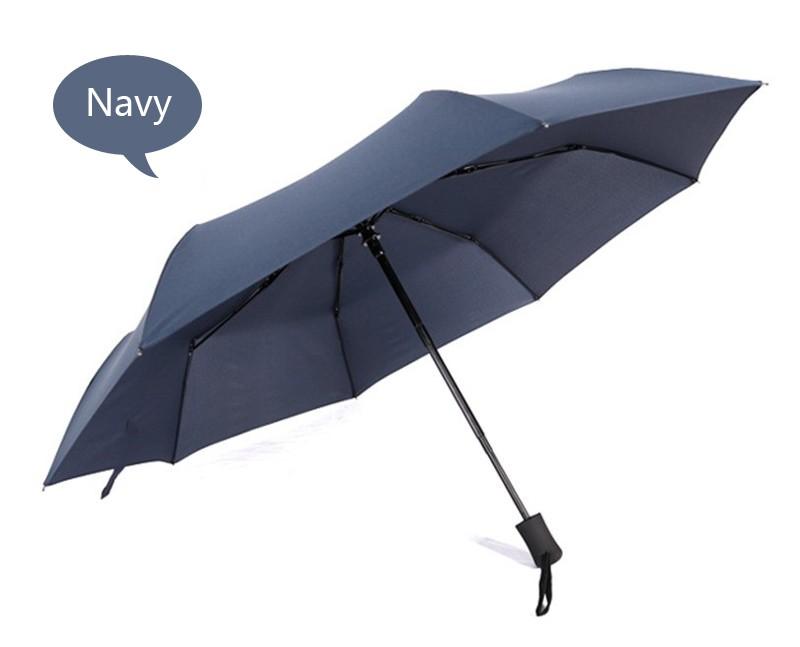 Business Men Women Automatic Folding Umbrella Compact Super Windproof  Anti-UV Rain Sun Umbrella Women Men Tri-folded Umbrella - us188 b7deaf594d8
