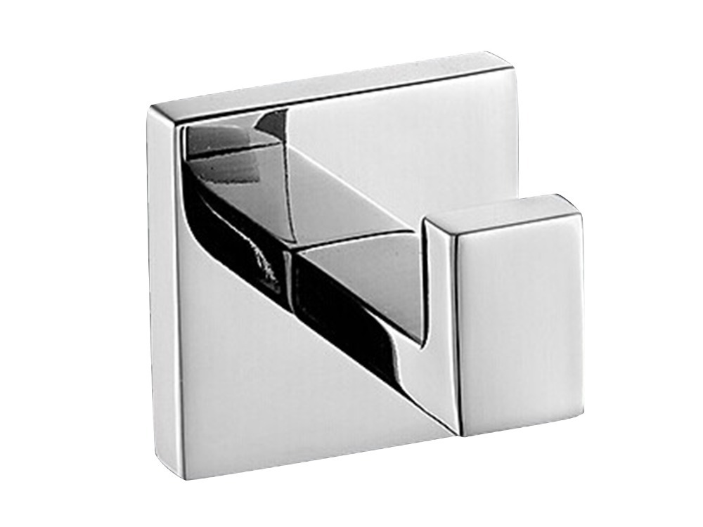 167g Deluxe 304 Stainless Steel Wall Mount Square Towel Robe Coat Hook Hat Door Hanger Mirror Polished(China (Mainland))