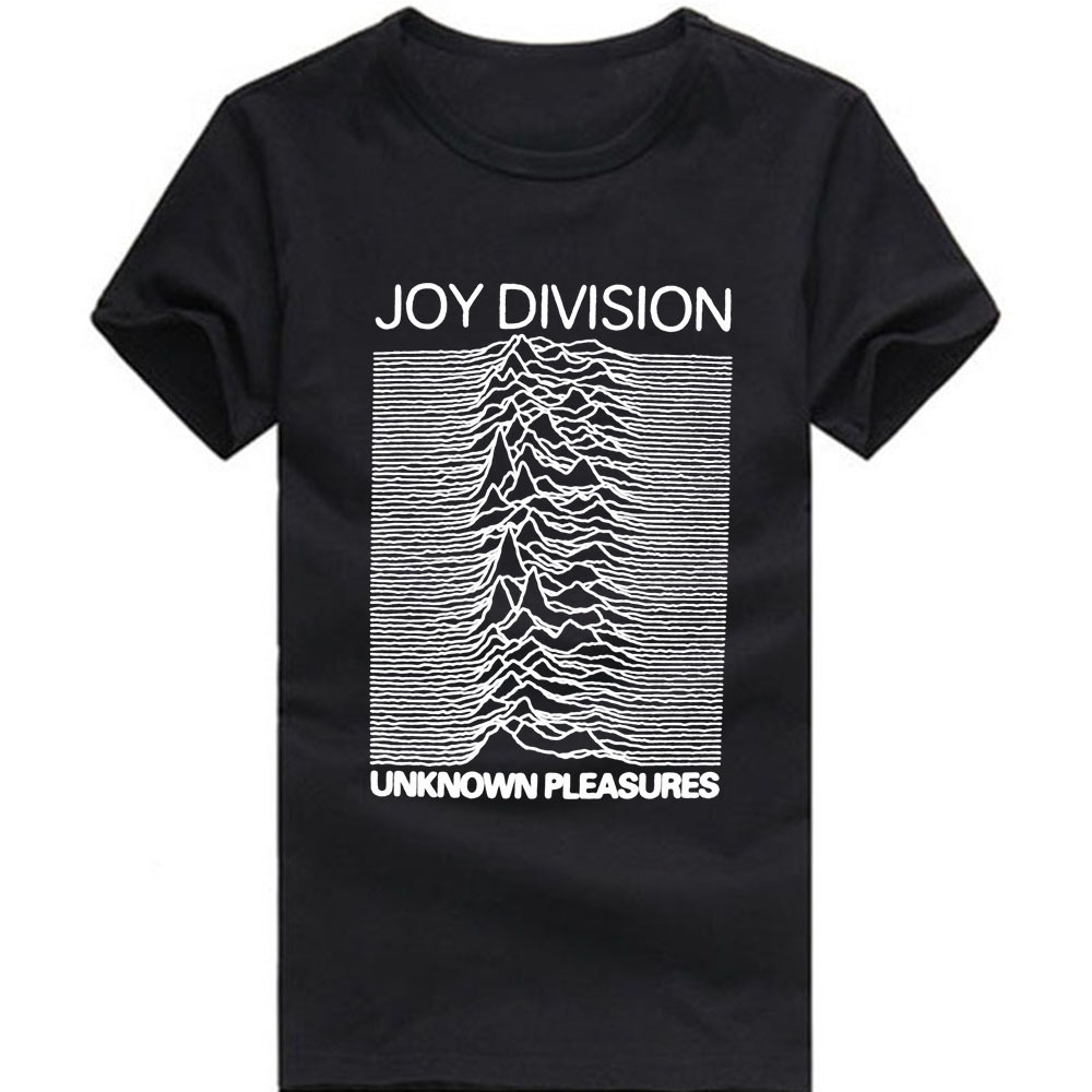 Euro Size Joy Division T Shirts Men Unknown Pleasure Post Punk Gothic t shirt Rock And Roll Stylish Man tshirt O Neck Mens Tops