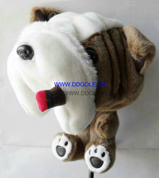 460cc cigra dog new design driver golf headcover golf club headcover(China (Mainland))