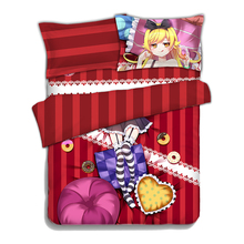 Monogatari Series Oshino Shinobu Anime Quilt Cover Soft Printed Bedding Set Duvet Set(China (Mainland))