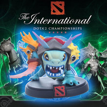 Valve Icefrog MOBA Strategy MMO Game Dota2 The International Ti6 Best Gifts Slark Action Figure Doll Model Collection Brinquedos