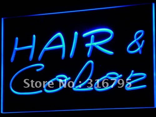 i564-b Hair & Color Salon Cutting Shop LED Neon Light Sign(China (Mainland))