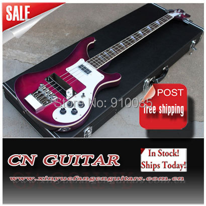 Custom Shop Purple Burst 4 Strings Ricken 4003 Jetglo Electric Bass Guitar Original Parts Free Shipping(China (Mainland))