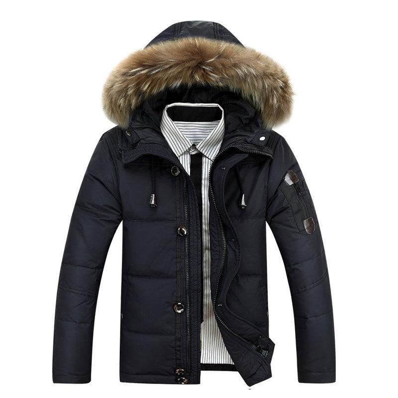 Winter Jacket Men Thick Warm Duck Down coat Waterproof Fur Collar mens Parkas Hooded Outdoor Down Jackets