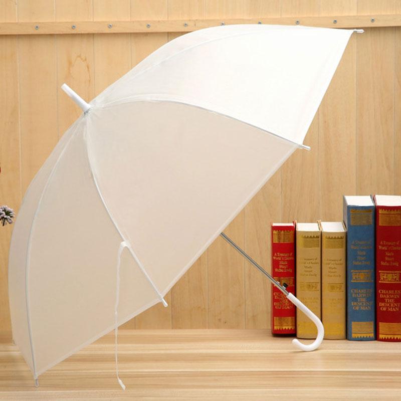1 Шт. Многоцветный Полу-прозрачный Зонтик Дождь Женщины Полуавтоматическая Зонтик Танец Длинной Ручкой Зонтик