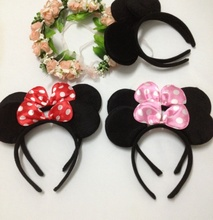 10pc Children Headbands Mickey ears Hair Accessories Frog or Rabbit animal birthday gift Headwear present wedding party supplies(China (Mainland))