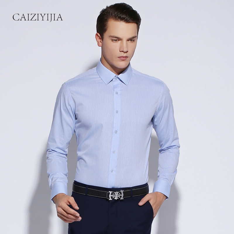 Buy 2016 new mens slim fit solid color for Buy white dress shirt