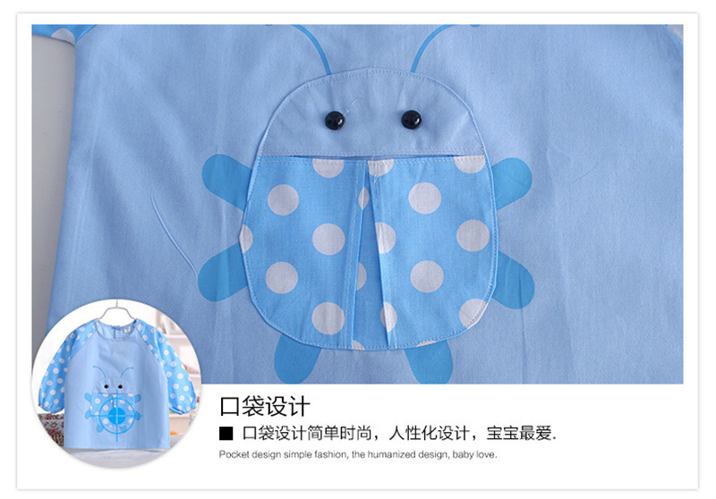Infants and young children eat waterproof clothing 2pcs()