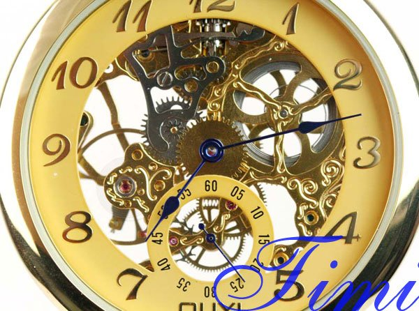 wholesale CLASSIC GOLDEN STEEL MECHANICAL POCKET WATCH<br><br>Aliexpress