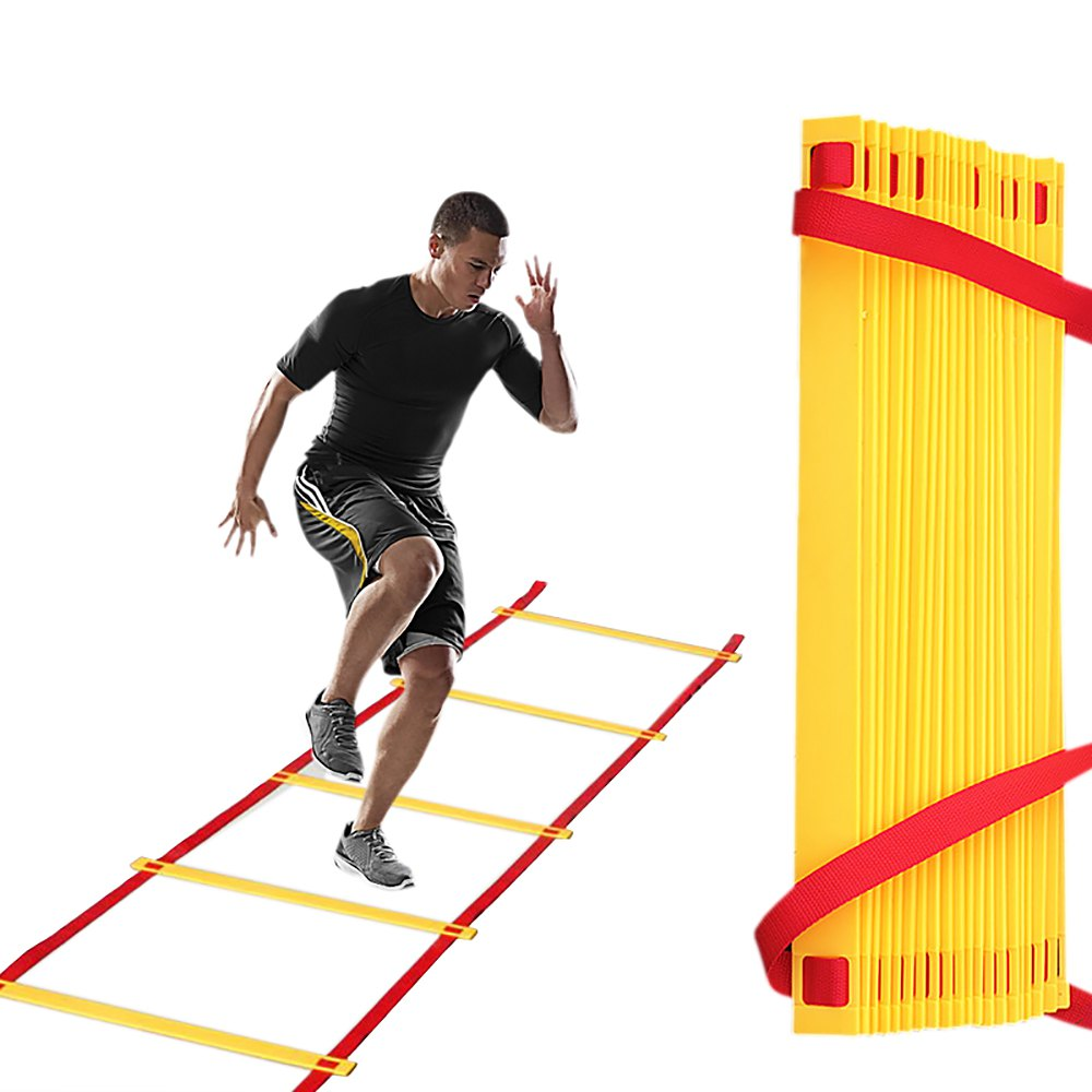 New Durable 6M 12 Flat Rung Agility Ladder for Soccer Speed Training Football Fitness Feet Training Equipment with Bags(China (Mainland))