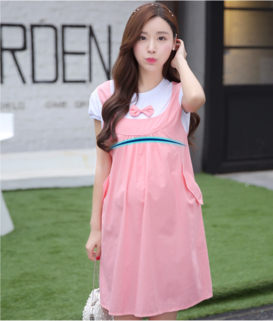 Retail 1PCHot style Maternity Clothes Summer Dress For Pregnant Women Casual Cotton Maternity Dresses 2016 New(China (Mainland))