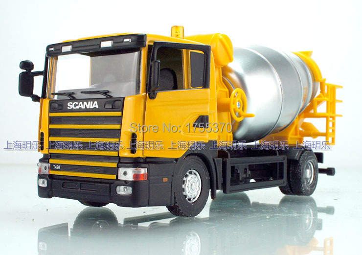 1:43 Scania Cement Mixers Transport Vehicle Heavy Truck Alloy Model As Gift For Boy Children(China (Mainland))