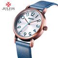 JULIUS watches women fashion watch 2017 Large Easy Read Number Rose Gold Antique Wristwatch Orologi donna