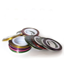 10 Colors Striping Tape Line Nail Art Sticker Tools Beauty Decorations for on Nail Stickers for
