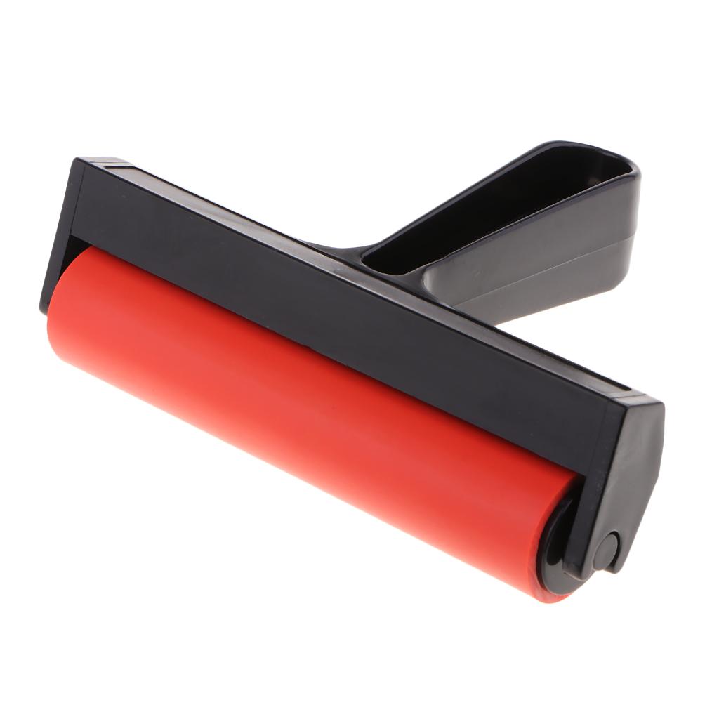 Премиум резиновый ролик для печати обои штамповки Нескользящая лента Premium Rubber Brayer Roller for Printmaking, Wallpaper, Stamping, Anti-Skid Tape Construction Tool, Gluing Application