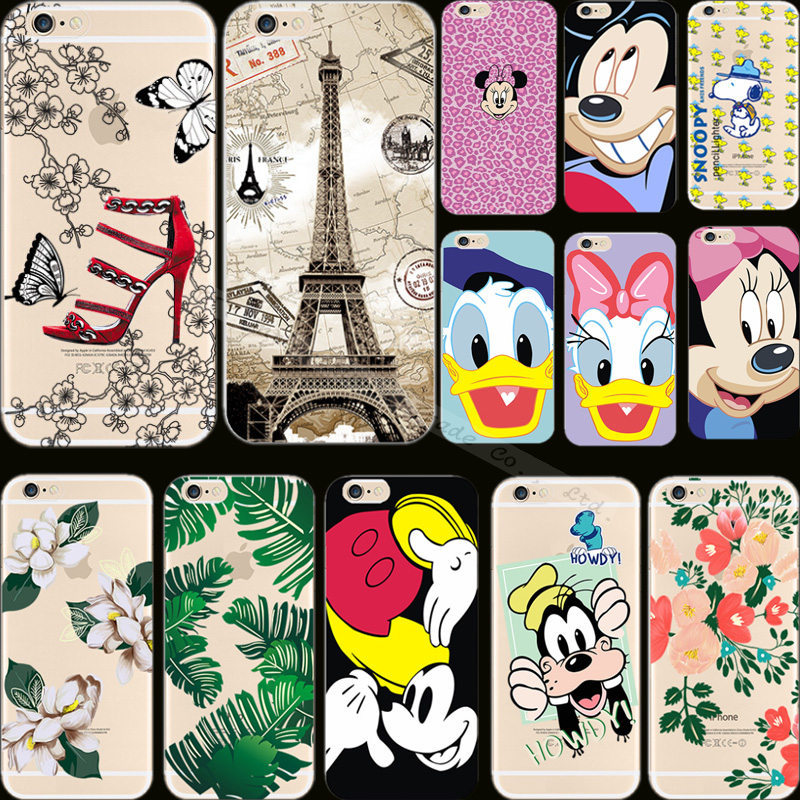 1PC Soft Silicon Cheapest Price Interest Style Donald Duck Mickey Phone Cover For Apple iPhone6 iPhone 6 4.7'' Case Shell Cases(China (Mainland))
