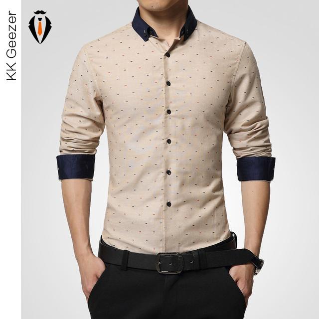 Мужчины рубашка slim fit белый длинный рубашка платье с длинным рукав французский ...