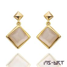 Earrings Pendientes Gold Fashion Jewelry For Women  Heart Angel of Mercy Square  Top Grade  Luckiness  Romance 3  Color