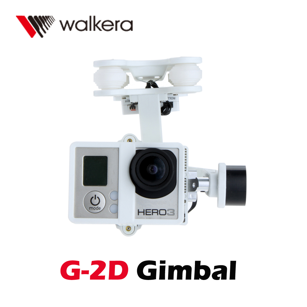 High Precision Original Walkera White Plastic Version G-2D Brushless Gimbal for iLook/GoPro Hero 3 on X350 Pro FPV Quadcopter(China (Mainland))