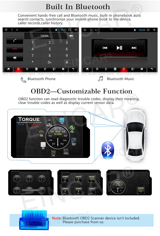 Android 6.0 Car Stereo Car DVD Player GPS Navigation Auto Radio multimedia/WiFi/Mirrorlink for Toyata Corolla 2013 Rear Camera