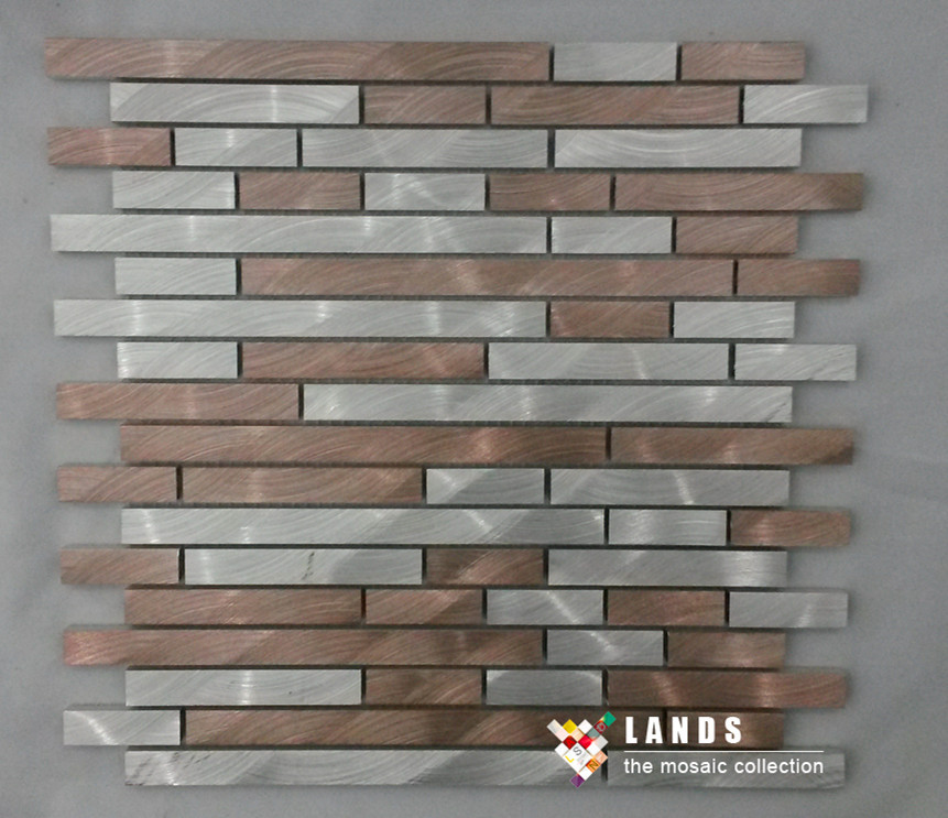 Popular metallic backsplash tiles buy cheap metallic for Plaque decorative adhesive alu inox metal