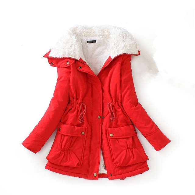 Red Parka Coat Womens - JacketIn