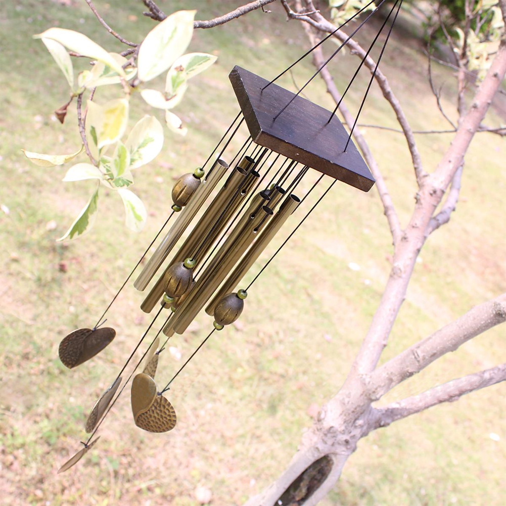 Love Heart 8 Tubes Wind Chimes Outdoor Living Yard Garden Decor Hanging Decorations Campanula Wind Chimes(China (Mainland))