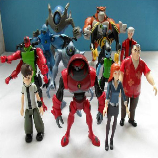 12 Pieces 7~12 CM Ben 10 Protector of Earth Family Action Figures Brinquedos Toys WA0031(China (Mainland))