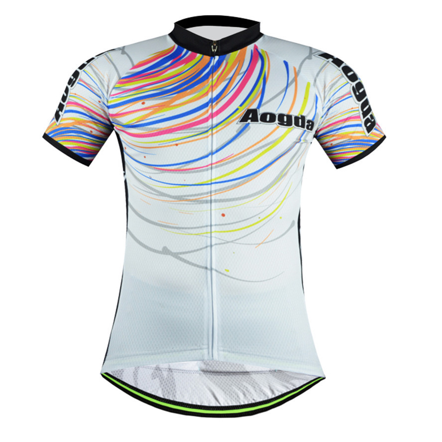 Aogda fashion simple men's wear colorful cycling jersey short sleeve riding Mayo cycle commands Ropa Ciclismo(China (Mainland))