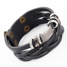Buy 2016 Vintage Leather Bracelet Wristband Jewelry Bijouterie Unisex Woman Charm Bracelets Men Bangles Bijioux Pulseira Feminina ) for $1.12 in AliExpress store