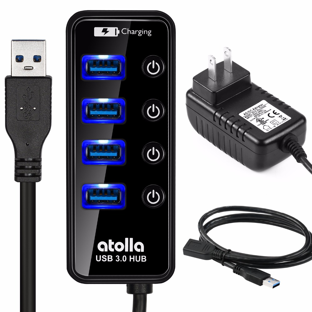 Atolla USB 3.0 HUB with External Power Adapter Powered ...