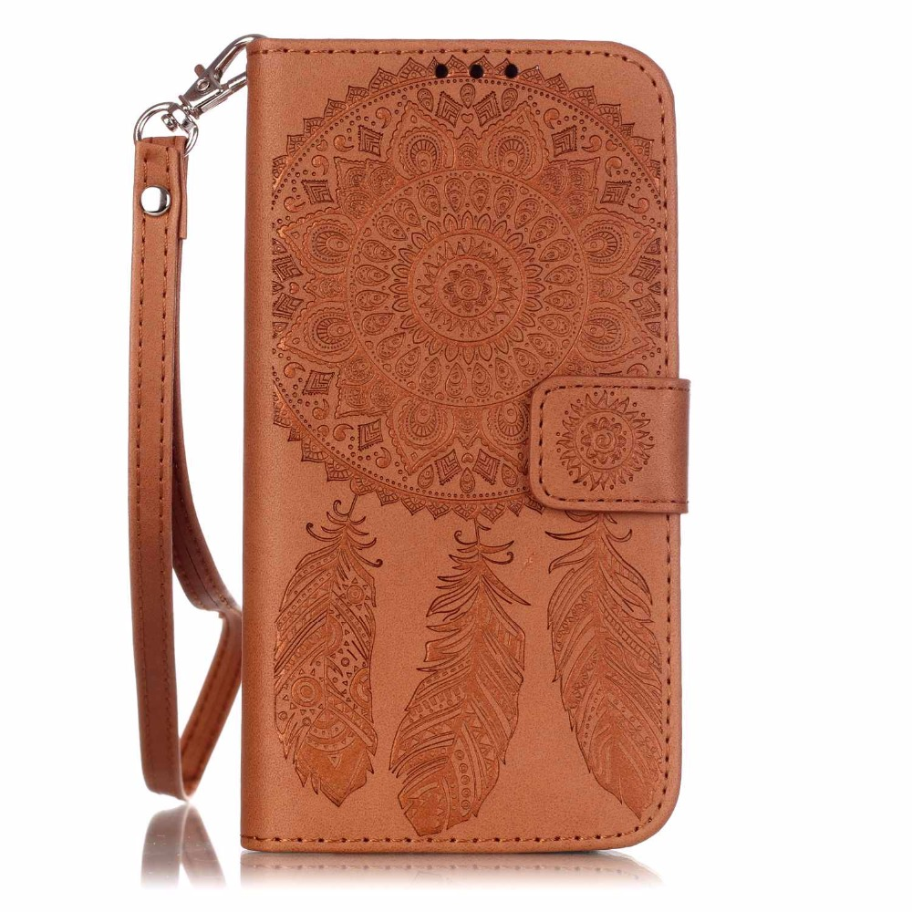 S7 Case Colorful Printing Dream Catcher PU Leather Wallet Back Case Cover For Samsung Galaxy S7 G930 G930A G9300(China (Mainland))